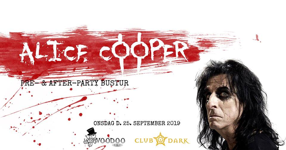 Alice Cooper pre- and after-party