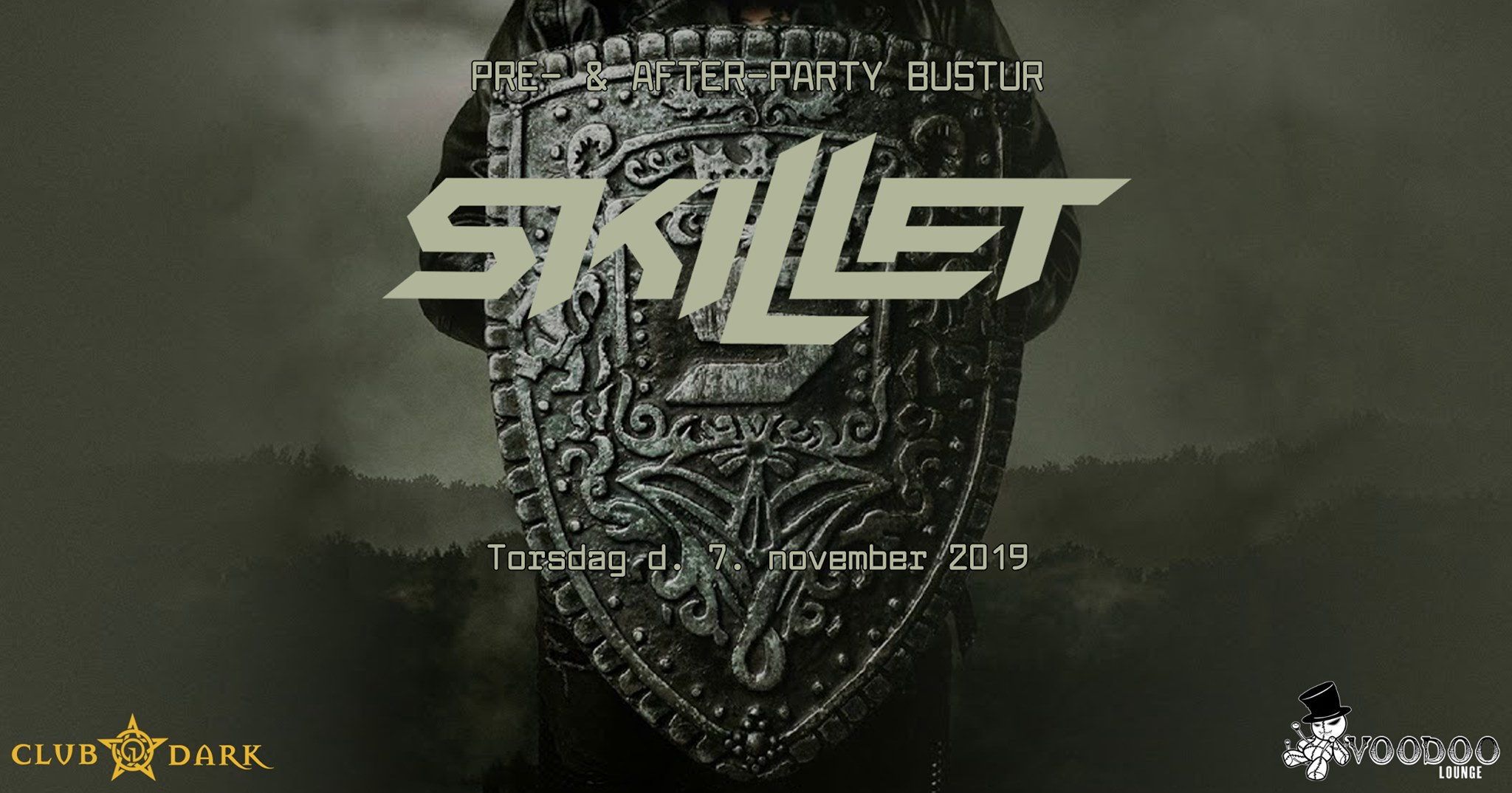 Skillet pre- & after-party bus trip